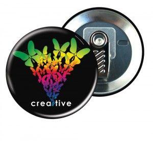#Badge personnalisable avec attache pince croco, idéal comme badge professionnel