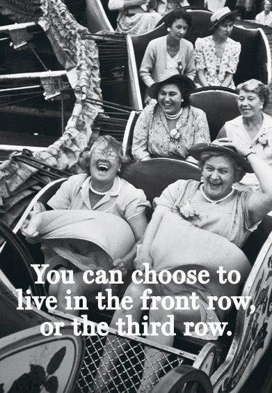 Always choose the front row. #inspired #havesomefun