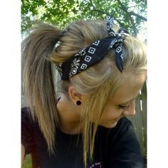 Cute Bandana Hairstyle! - Click image to find more Hair & Beauty Pinterest pins