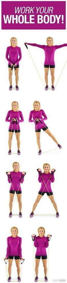 Grab your resistance band and get started with this total body workout.