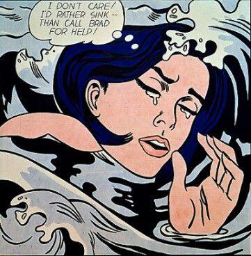 Roy Lichtenstein: Drowning Girl, 1961