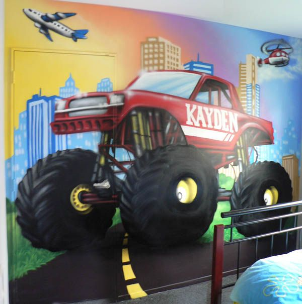 1000 ideas about monster truck bedroom on pinterest