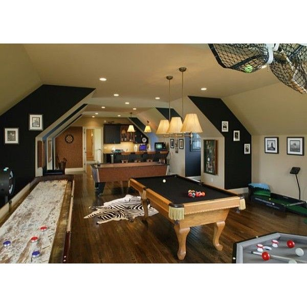 Family Game Room Decorating Ideas Part - 46: Inspiring Game Rooms Decorating Ideas Found On Polyvore
