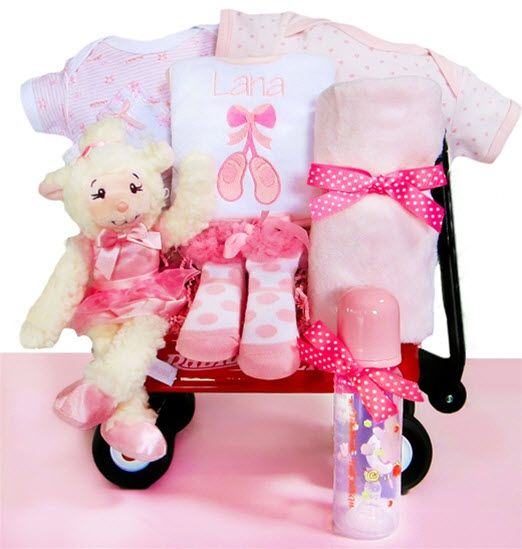 268 best baby gift ideas images on pinterest baby presents gift baby gift baskets personalized ballerina baby gift baskets negle Choice Image