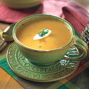 51 Satisfying Soups & Stews   Creamy Southwestern Pumpkin Soup   SouthernLiving.com