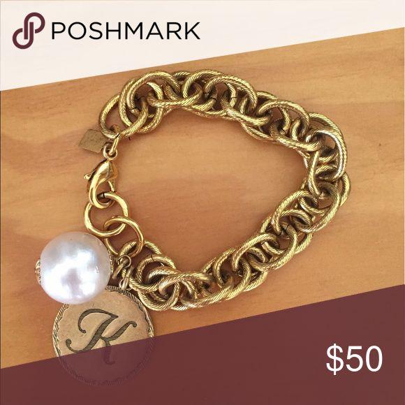 """John Wind monogrammed """"K"""" bracelet. Never worn. John Wind gold monogrammed """"K"""" bracelet. Never worn. john wind Jewelry Bracelets"""