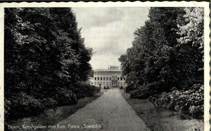 Oude ansichtkaart Paleis Soestdijk