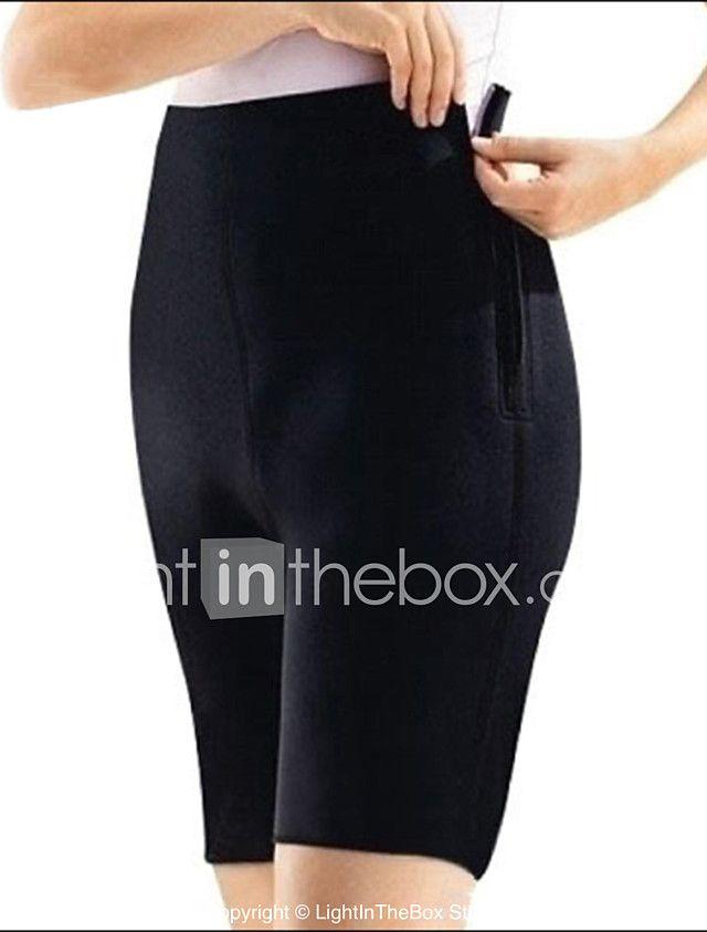 negro sexy deportes neopreno reversible braga de talle alto shaperdiva de las mujeres pantalones cortos para correr con cremallera tamaño 2017 - $19.99