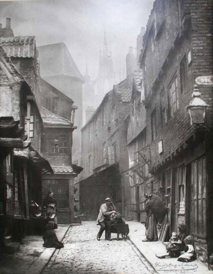 Newcastle's Black Gate from the Dog Leap Stairs, 19th Century                                                                                                                                                                                 More