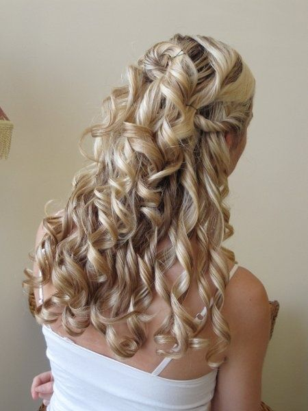 Hairstyles For Curly Hair For Wedding : 86 best hair comes the bride images on pinterest