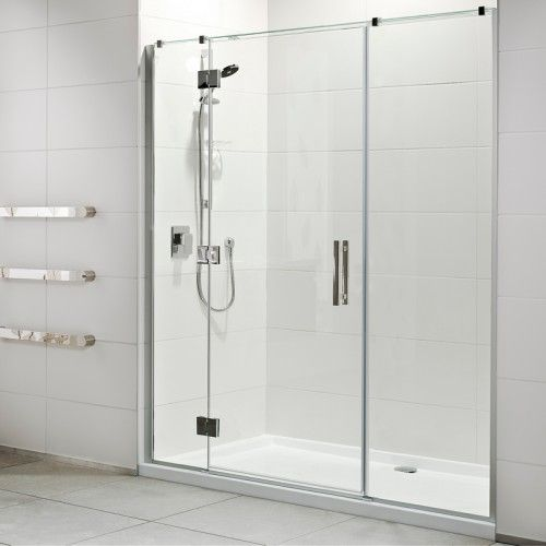 Lifestyle 1000x1800 3 Wall Tiled Wall Shower Offset Door Short Hinge