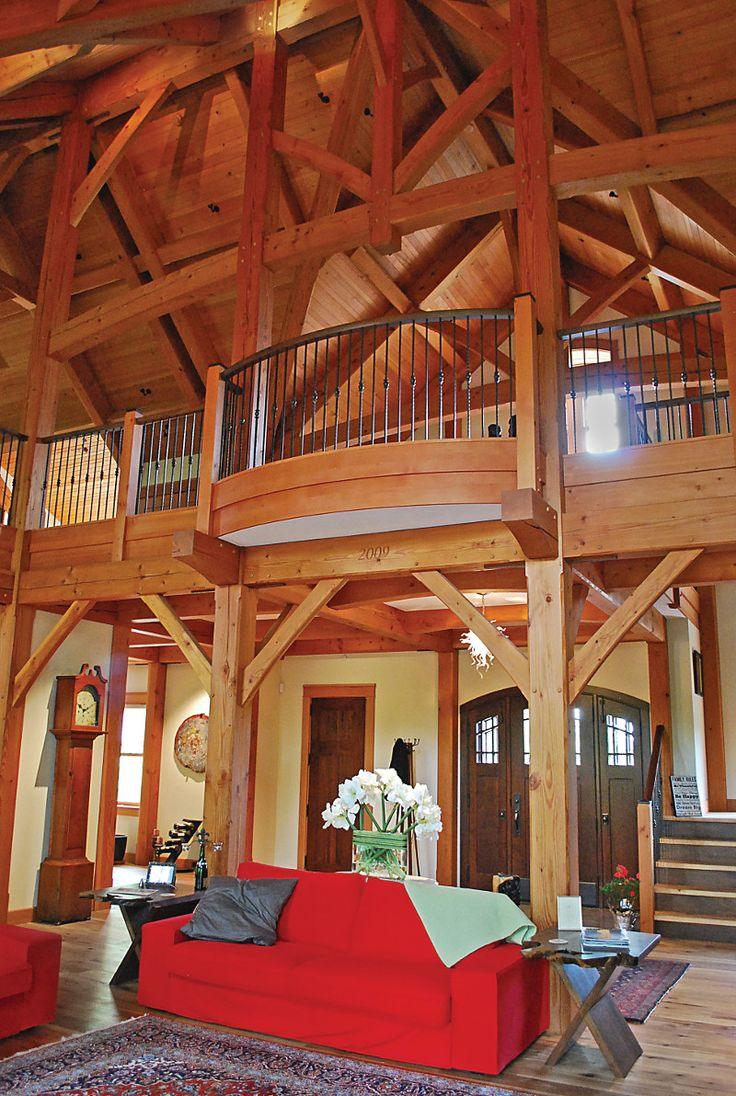 Compact Hybrid Timber Frame Home Design Photos Timber Home Living: 61 Best Timber Frame Great Rooms Images On Pinterest