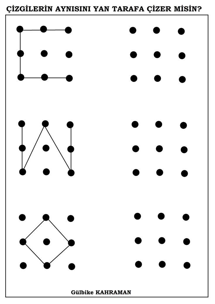 okul öncesi şeklin aynısını çiz
