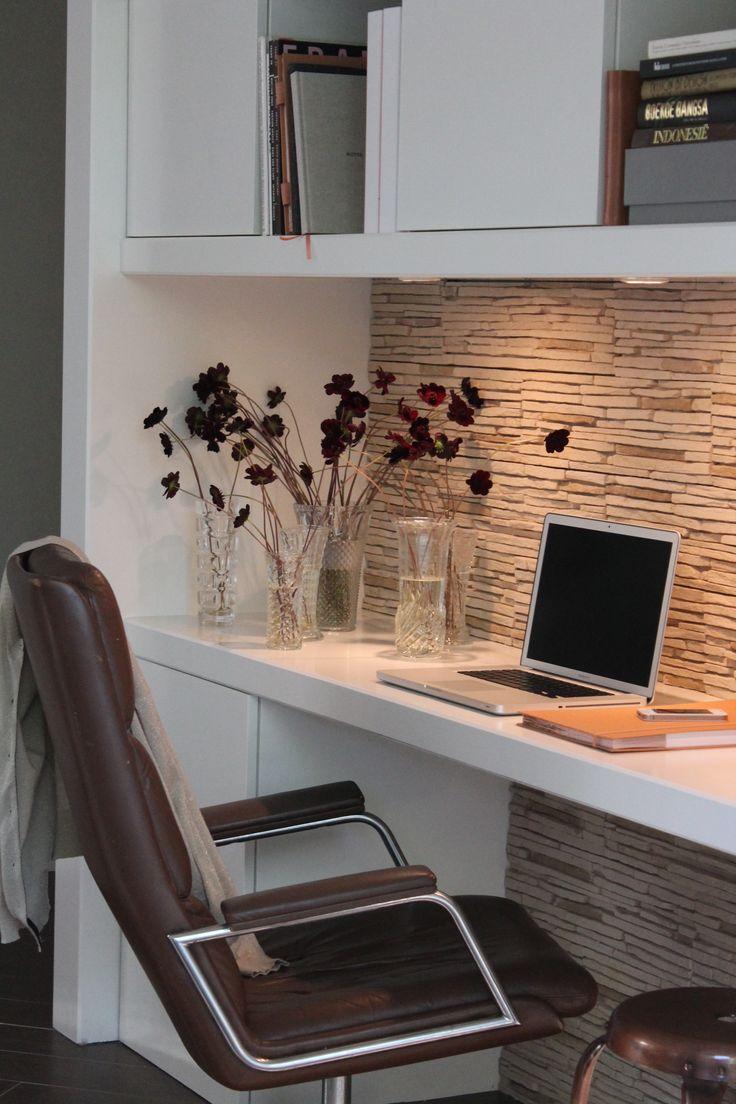 25 beste idee n over kast bureau op pinterest for Home office ideeen