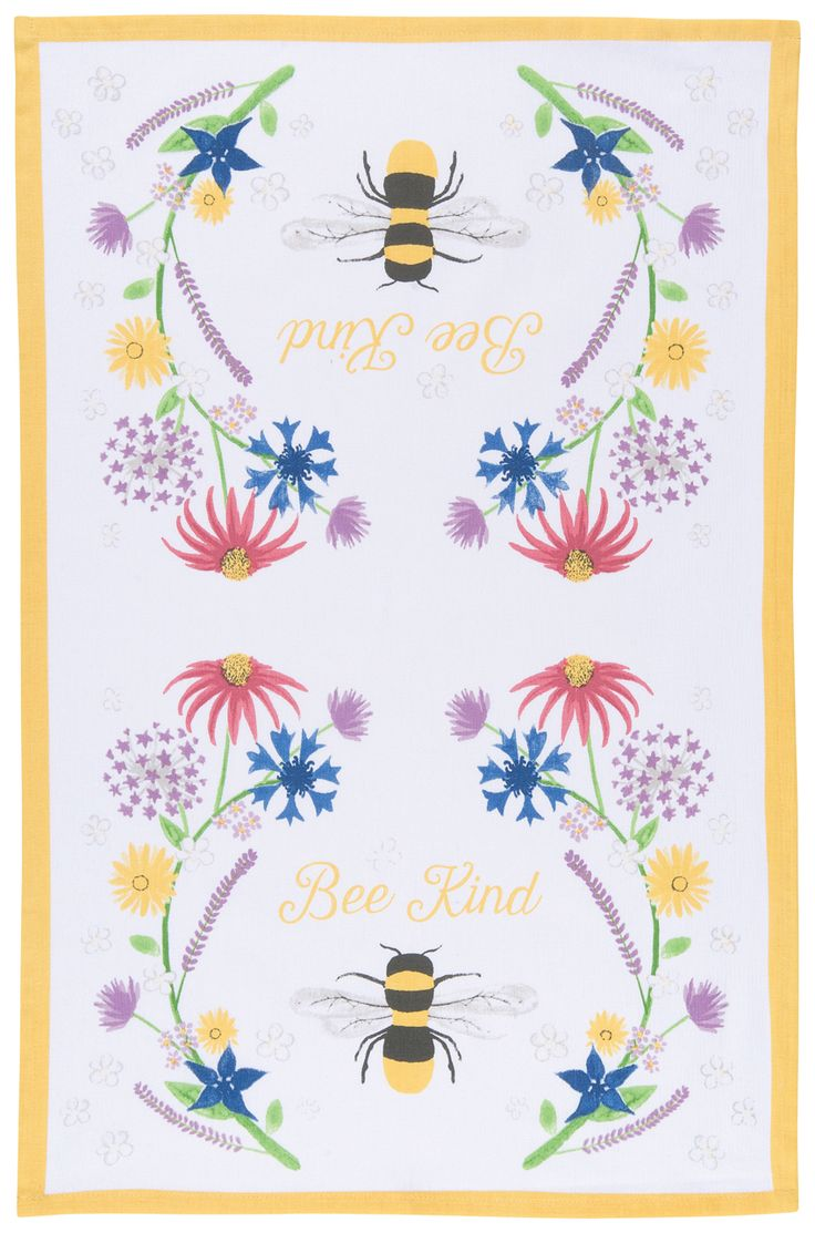 SOLD OUT Bee Kind Dishtowel | The Art of Home $9.95 | 2 Requested | 0 Purchased