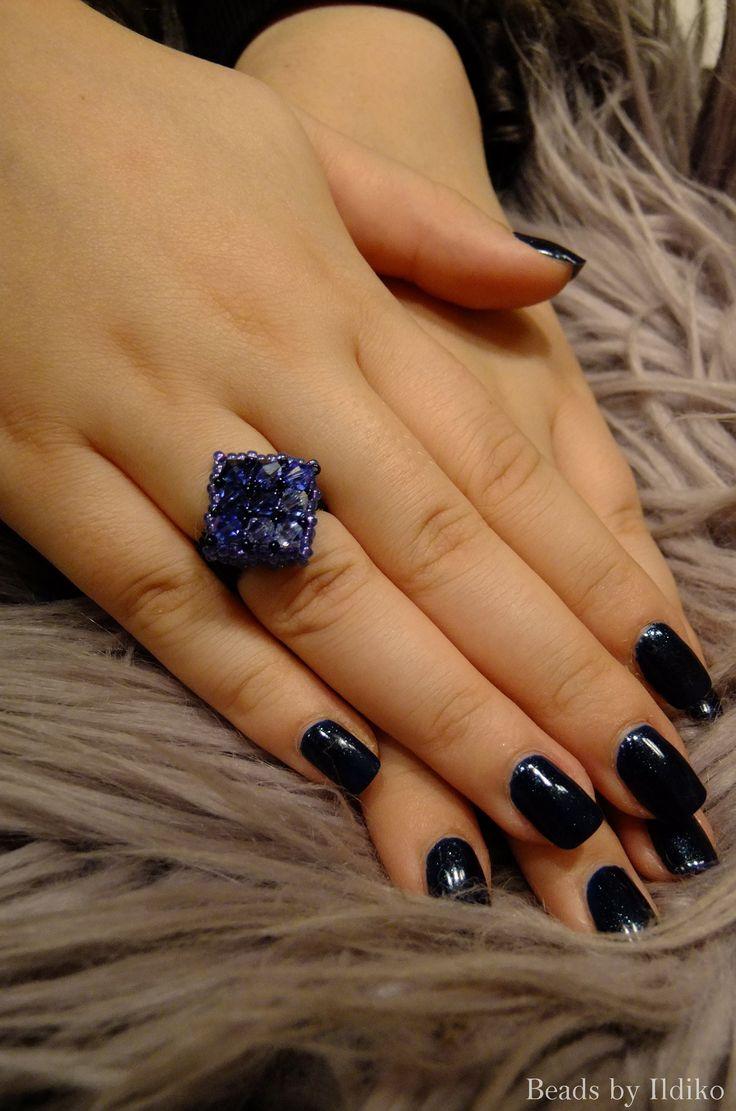 Sapphire swarovski ring - CRAW