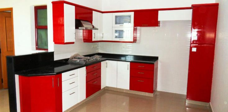 Model Style Kitchen Red And Wite : Kitchen designs, Countertops and Black countertops on Pinterest