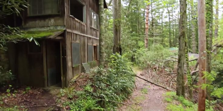 Abandoned town in Tennessee's Great Smoky Mountain's National Park,. Some buildings were constructed more than 100 years ago.