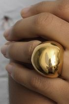 Linhardt small pebble ring 18k gold