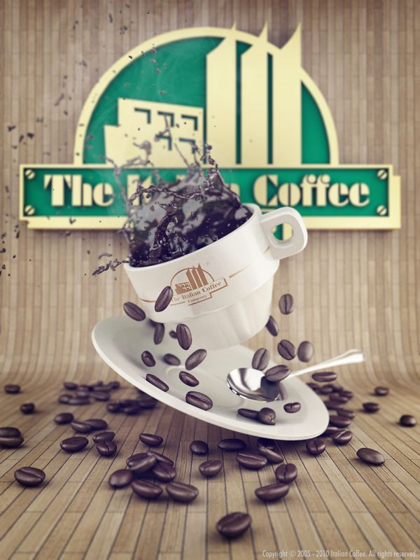 The Italian Coffee Company by Antonio Luna, via Behance