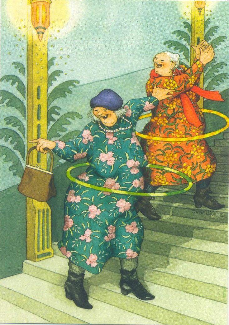 Летием для, картинки веселые бабульки