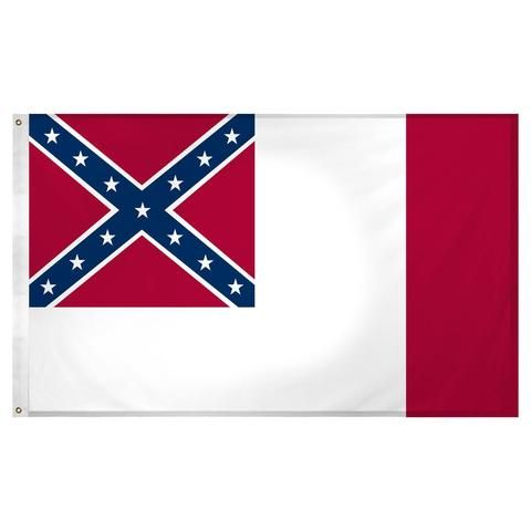 Rebel Nation 3 x 5 3rd National Confederate Flag for sale $9.99