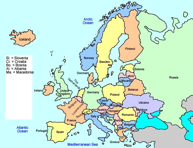 Europe Interactive Map For Kids Europe Educational