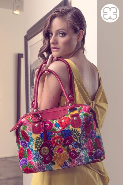 Splash of color with this Fancy bag made with a huipil from Quetzaltenango
