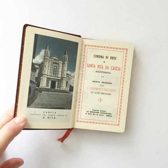 Vintage Italian Prayer Book Corona di Rose a by AlegriaCollection
