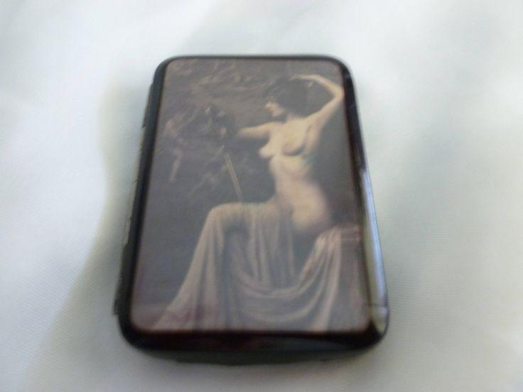 Vintage Gentleman's Cigarette Holder - Vintage Scantily Clad Lady Business Card Holder - Vintage Nude Lady  -  Vintage Art Deco Art Nouveau by Teddyrose54 on Etsy