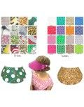 Miracle Lace Fabric Visor Bundle -Set of 3 Visor Pack-Variety of Solid Colors Available