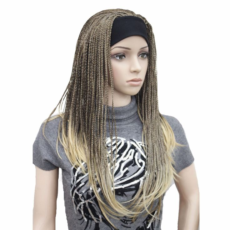 Promo StrongBeauty Synthetic Women Long Wigs Braiding Crochet Hair With Headband Half Wig. Click visit to read descriptions