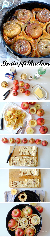 Marzipan-Bratapfel umwickelt mit Rosinenschnecken, dazu Vanillesoße -> köstlich!