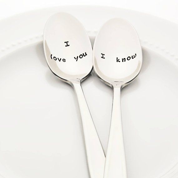 """Star Wars Inspired """"I Love You"""" / """"I know"""" 