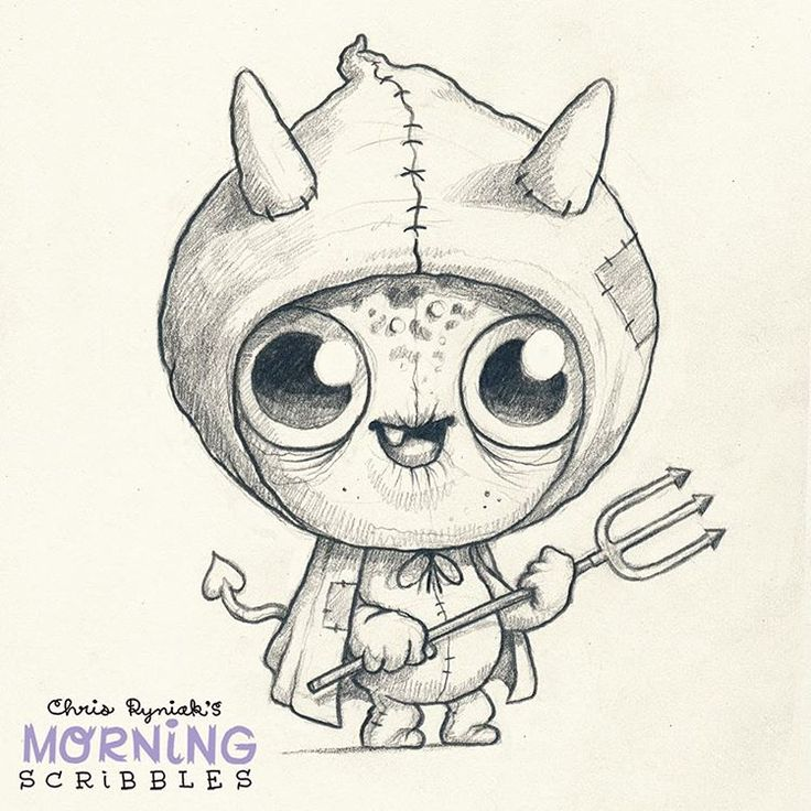Devil Costume! #morningscribbles #october