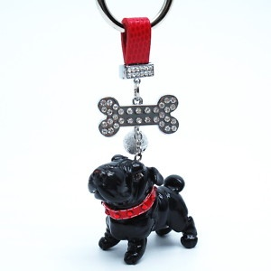 http://stores.ebay.com/madamepOmm-BlueWitch  Black Shar Pei Red Keychain Pet Lover Gifts Handmade.