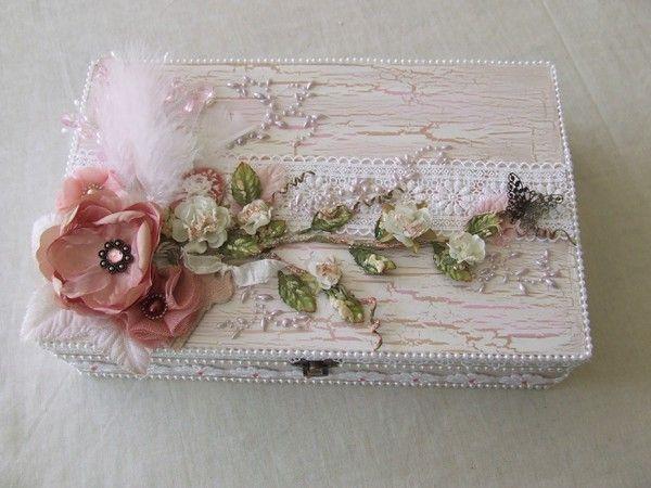 altered shabby chic vintage box
