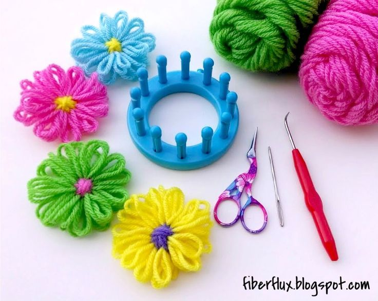 Fiber Flux...Adventures in Stitching: How to Make a Loom Flower