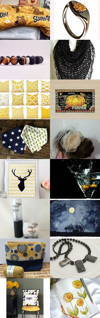 Black and Gold by Moira Lawrance on Etsy--Pinned+with+TreasuryPin.com