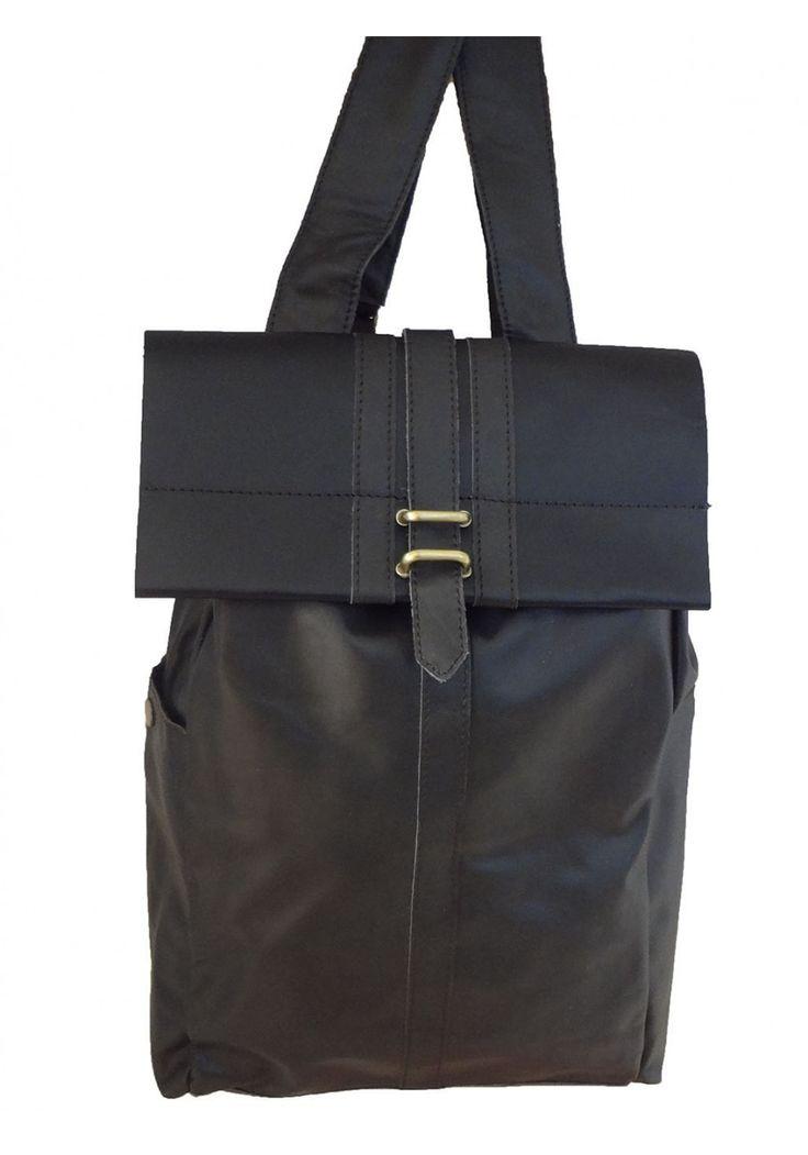 Sandrine Quenu -- Top Grain Cowhide Leather Backpack