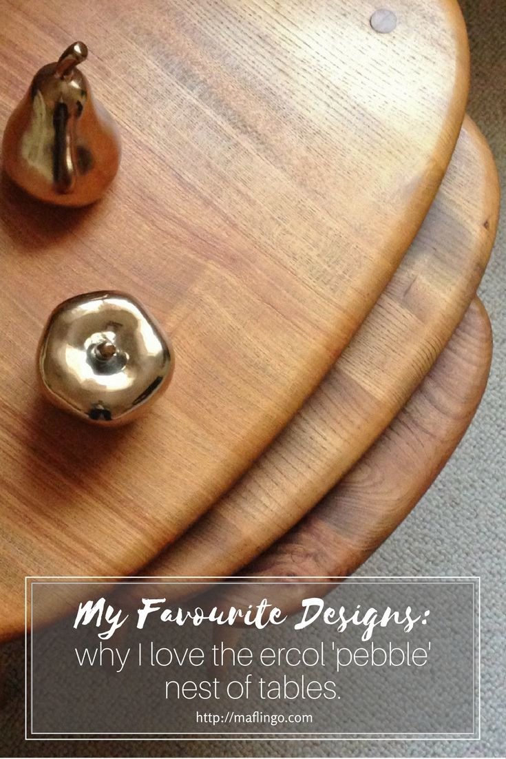 My Favourite Designs: Why I love the Ercol 'pebble' nest of tables. - Maflingo