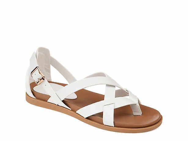 Womens white flat shoes, Sandals