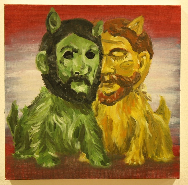 """""""Two Terriers"""" 2013, oil on canvas"""