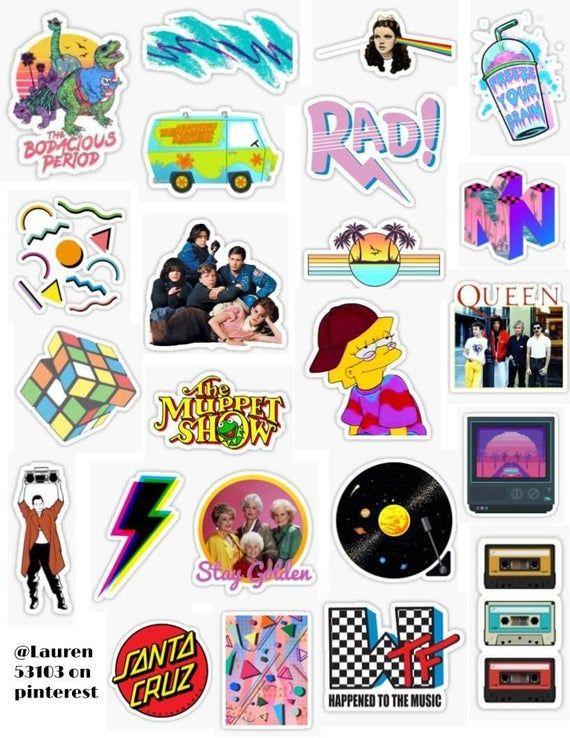 Never Pay Full Price For 23 Vsco 90 S Sticker Pack Adesivos Imprimiveis Gratuitos Adesivos Bonitos Adesivos Sticker