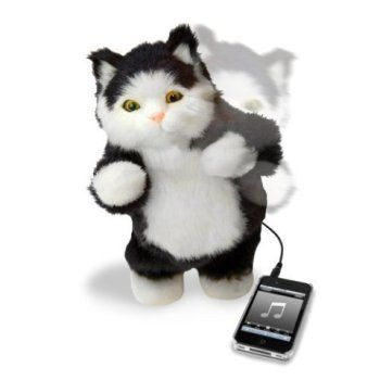 Dancing Cat...from 10 Awesome iPod Speakers for Animal Lovers