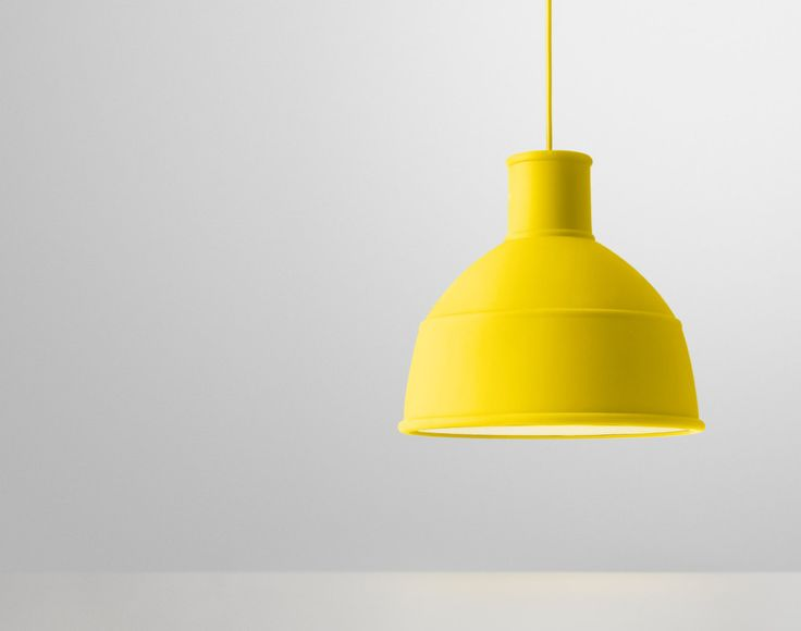 Závěsná lampa Muuto Unfold, žlutá   DesignVille