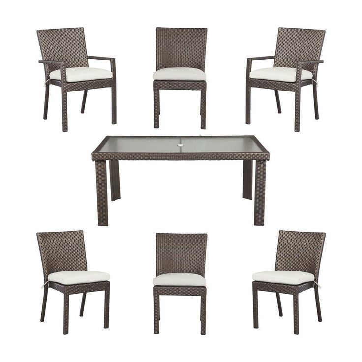 Hampton Bay Beverly Patio Dining Set With Cushion Insert (Slipcovers Sold    The Home Depot