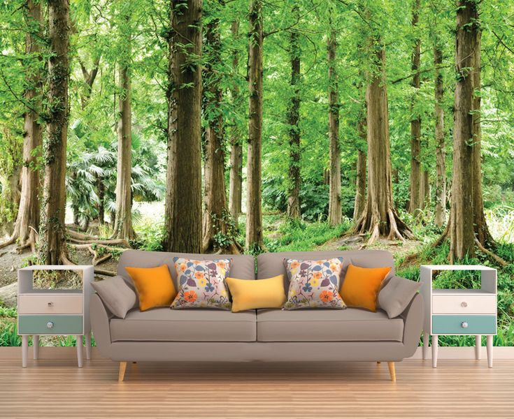 Forest Wall Covering, Forest Wall Mural, Forest Wallpaper, Tree Wallpaper, Tree Wall Mural,  Nature Wall Mural, Nature Wallpaper, Forest by PhotoDecorByDani on Etsy https://www.etsy.com/au/listing/501780415/forest-wall-covering-forest-wall-mural