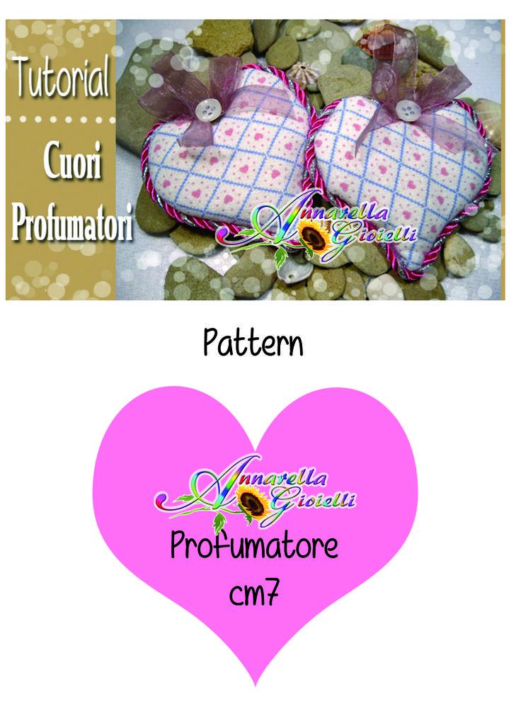 Schema profumatori per armadi a forma di cuore. Idea San Valentino. Tutorial disponibile qui: http://youtu.be/Y86o-nZmqe0  heart perfumers diy