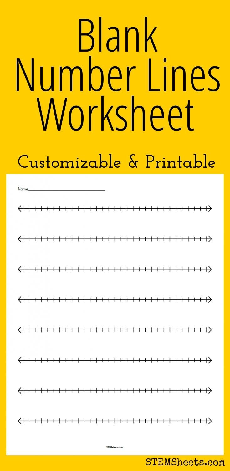 Blank Number Lines Worksheet - Customizable and Printable